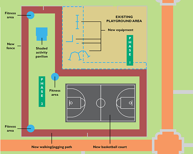Youth Fitness Park site plan