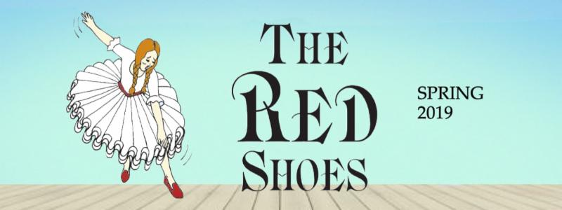 Banner image for The Red Shoes with a dancer wearing red shoes.
