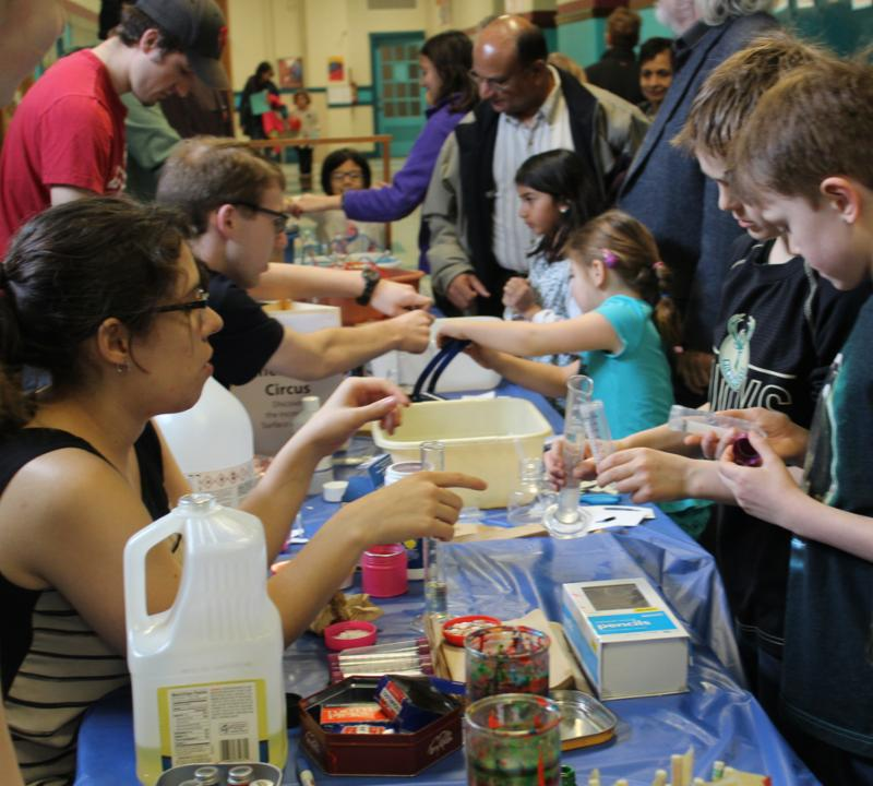 Students and parents explore science at Science Saturday.