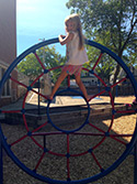 A 4k student playing on the Franklin playground