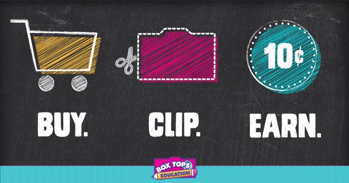 Box Tops: Buy. Clip. Earn.