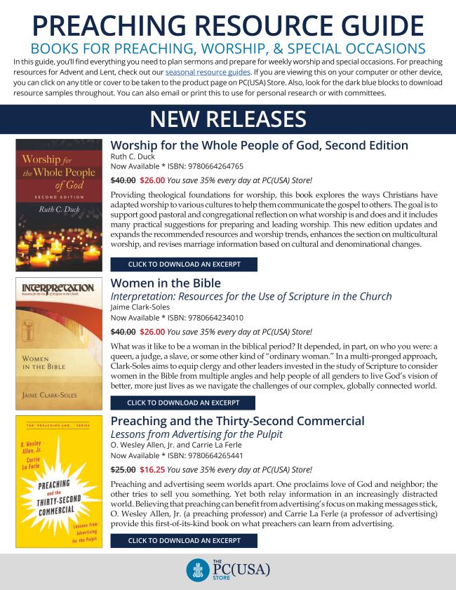 Preaching Resource Guide