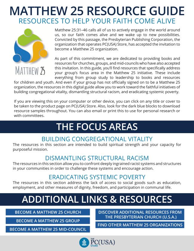 Matthew 25 Resource Guide