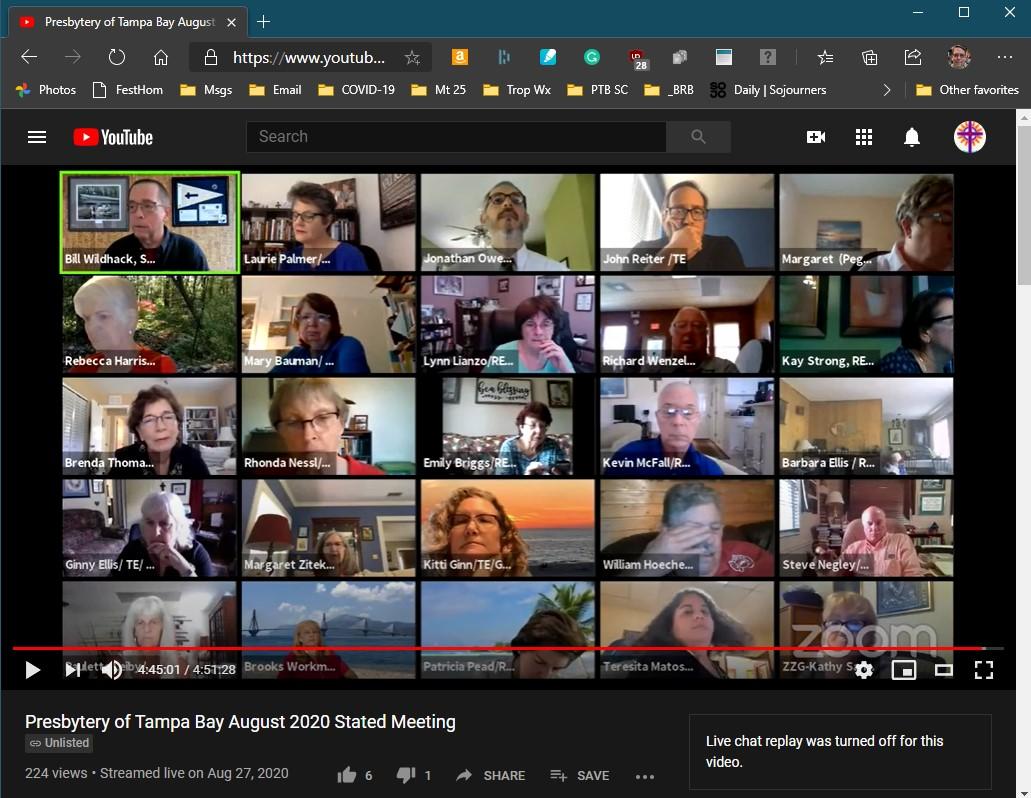 August 27 2020 PTB meeting screenshot