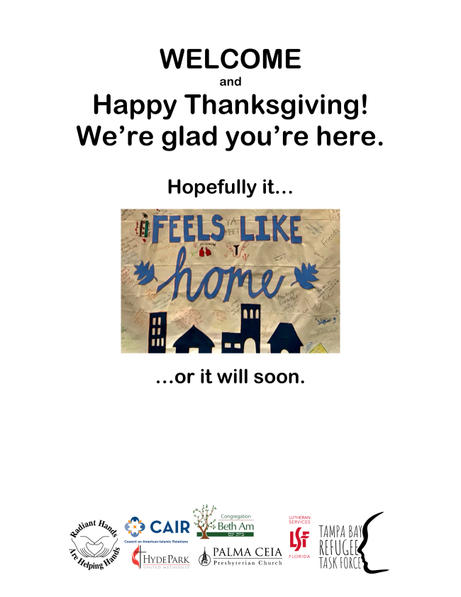 Interfaith Thanksgiving Welcome Card