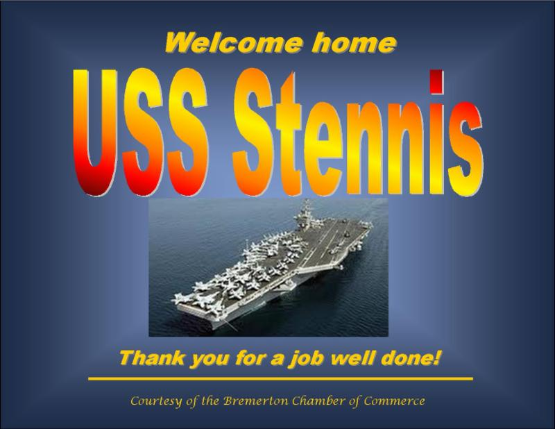 Bremerton Chamber of Commerce Welcome's USS John C  Stennis Home