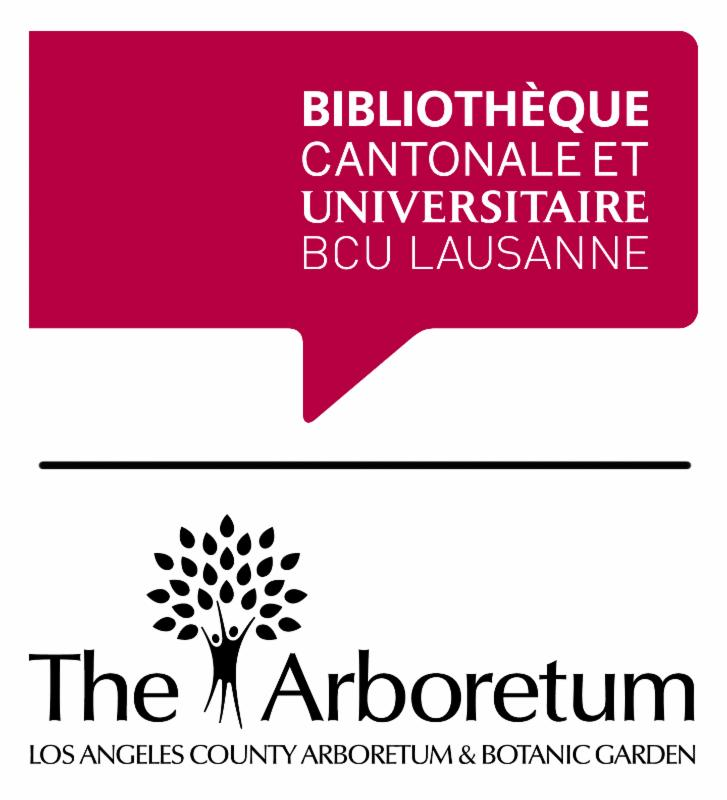 BCU Lausanne and The Arboretum Library at the Los Angeles County Arboretum and Botanic Garden logos