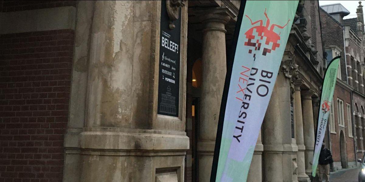 Biodiversity_Next banners in Leiden.