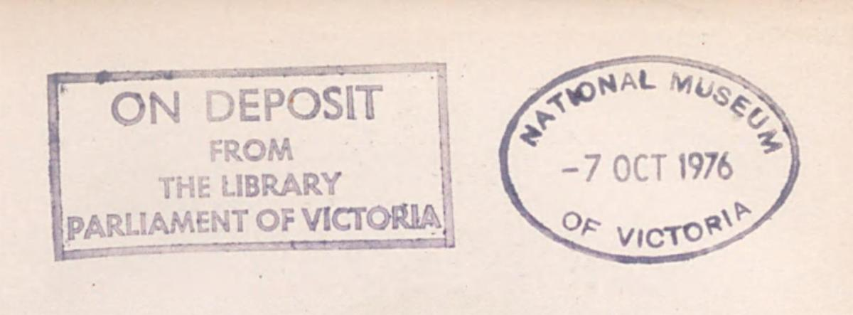 Library stamps from Museums Victoria books.