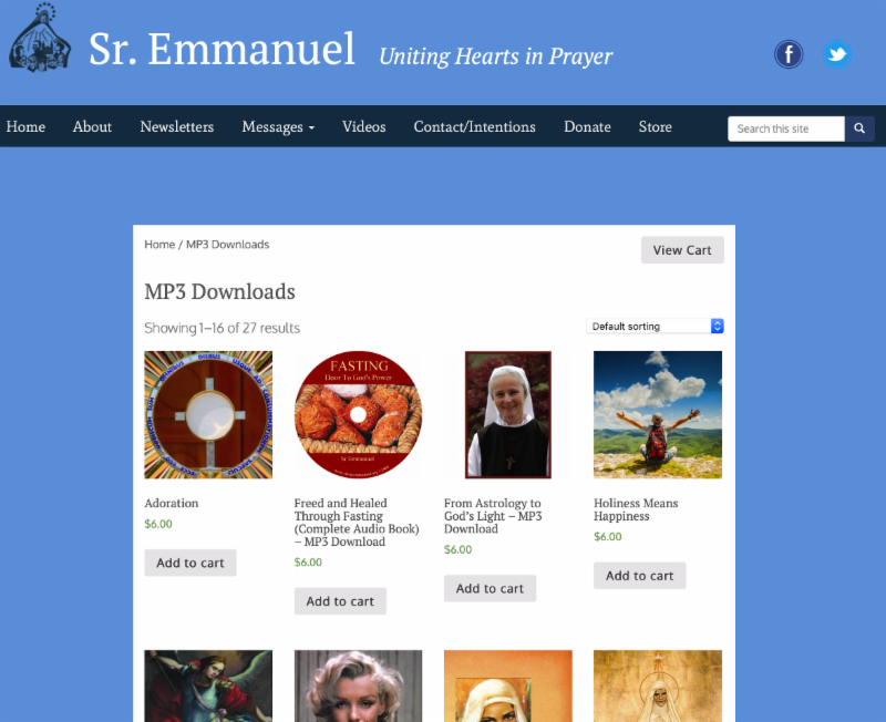 Sr Emmanuel's August Report - Sr  Emmanuel