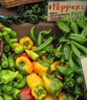 mixed peppers from sweet leaf farm