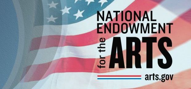 National Endowment for the Arts logo over the American flag.