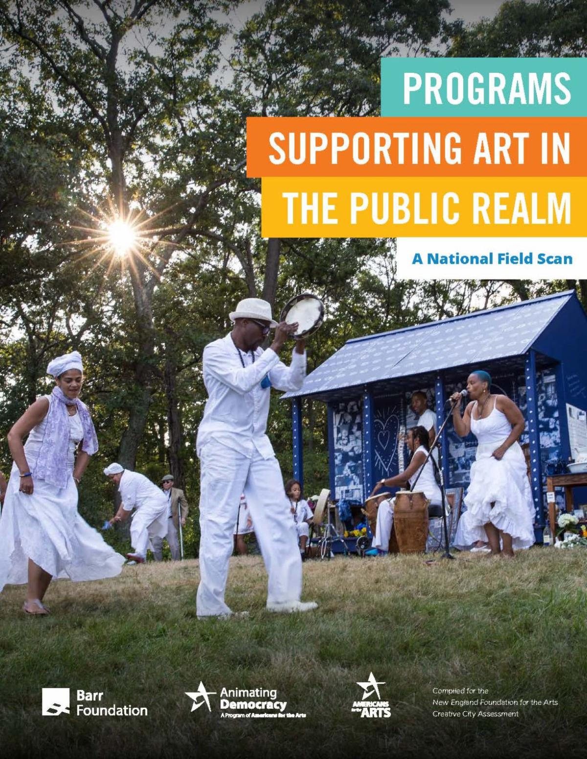 """Cover for """"Programs Supporting Art in the Public Realm."""""""